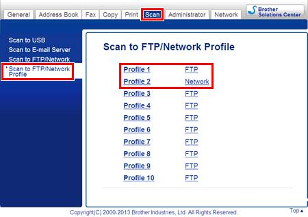 scan to network for brother mfc-l6800dw