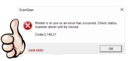 Canon IJ Scan Utility Code 2 140 21