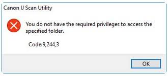 Canon IJ Scan Utility Error Code