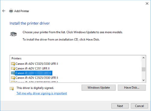 canon mf634cdw printer driver install