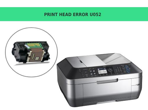 Print Head Error U052
