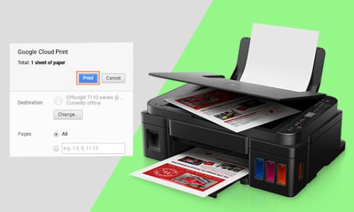 how do I connect Chromebook to Canon printer