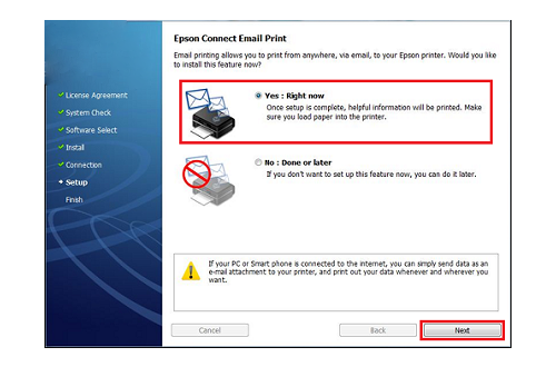 how to use Epson connect email print