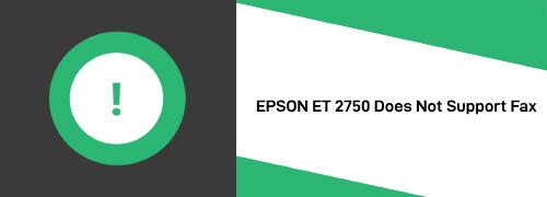 EPSON ET 2750 FAX SETUP