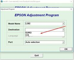 Epson L382 resetter tool download