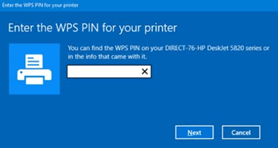 how to find hp dj2652 wps pin
