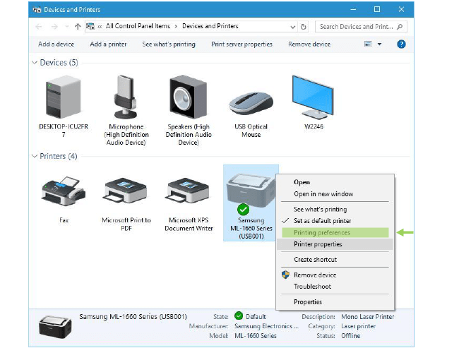How to find printer driver on computer