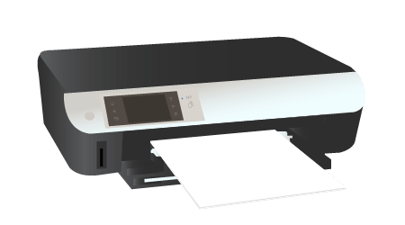 How to load paper on hp envy 5535 printer