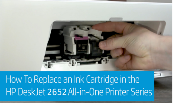 Replace HP Deskjet 2652 Ink Cartridges