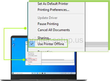 HP Deskjet 4155e Printer Offline