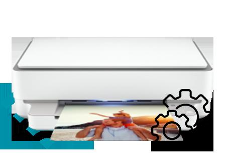 HP Envy 6055e Printer  Wireless Setup