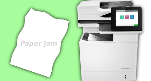 HP Laserjet MFP M635fht Setup Paper Jam Solution