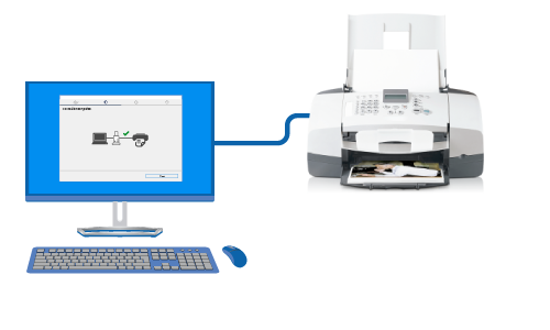 hp officejet 4215 usb setup