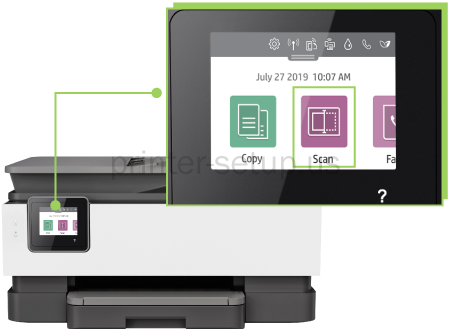 HP Officejet Pro 8020 How to scan