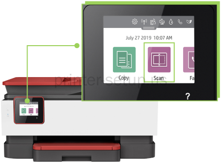 HP Officejet Pro 8035e How to scan