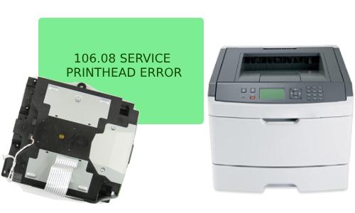 Lexmark C544dn 106.08 PrintHead Error Solution