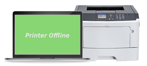 Lexmark MS510dn Printer Offline