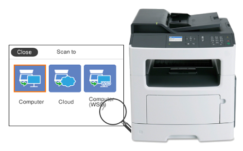 Lexmark MX317dn Scan to Computer Guide