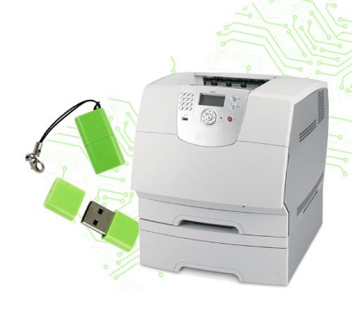 Lexmark T644 setup Print From A Usb