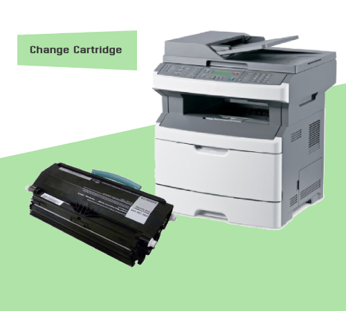 How To Change Cartridge Lexmark X264dn?